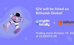 CryptoLocally Mencantumkan Token Asli GIV Di Bithumb Global
