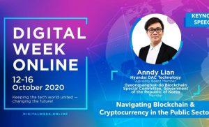 """Keynote Speech oleh Anndy Lian: """"Menjelajahi Blockchain & Cryptocurrency di Sektor Publik"""""""